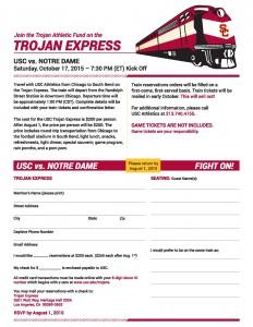 2015 Trojan Express Invite