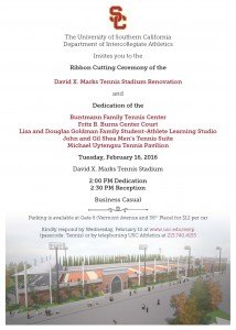 Tennis Ribbon Cutting & Dedication Invite